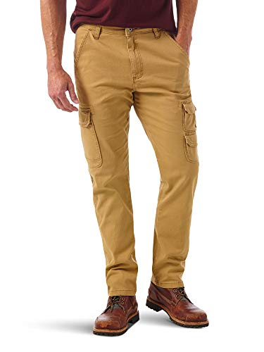 Wrangler Authentics Men's Regular Tapered Cargo, Brushed Almond, 30W x 32L
