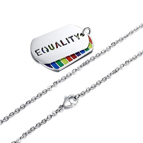 LGBT - Colgante del orgullo gay month de acero inoxidable, Tela,