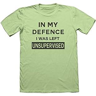 Funny Unsupervised Men's T-Shirt - Joke Brother Son Ski Snowboard Motorcross #8225 (Small, Mint Green)