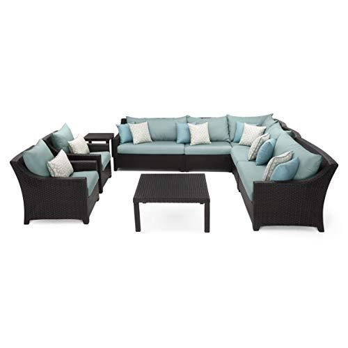 RST Brands Deco 9 Piece Sectional & Club Set Spa Blue