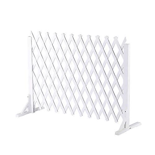 Weißer expandierender Zaun, Gartengitter/Weihnachtsbaumzaun Antikorrosive Holz-Home-Dekoration, Upgrade dicker mit stabiler diagonaler Verspannung (Size : 70x30cm)