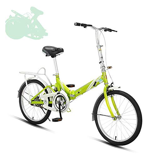 DGHJK Bicicleta Plegable para Adultos, Bicicleta Plegable rápida de 20 Pulgadas con Manillar y Asiento Ajustables, Resorte Amortiguador, bielas Grandes Que ahorran Trabajo, 7 Colores