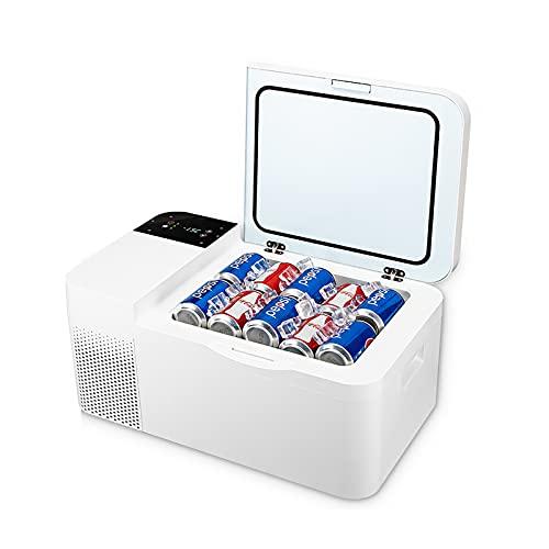 Mini Refrigerador 16 / 25L Refrigerador Pequeño Refrigerador Portátil AC/DC Mini Refrigerador para Automóvil y Hogar, Refrigerador Compacto Portátil y Silencioso para Cuidado de la Piel y Cosmétic