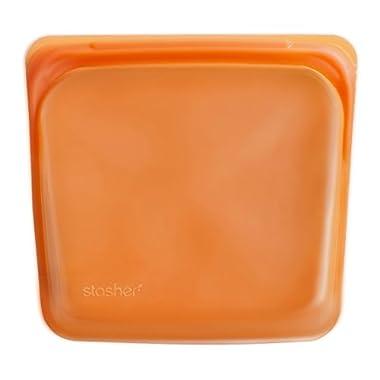 Stasher Reusable Silicone Food Bag, Storage Bag, Citrus
