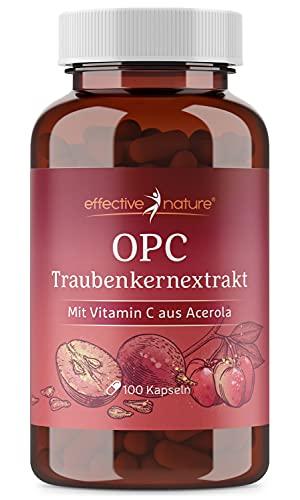 effective nature - OPC und Acerola Extrakt - 100 vegane Kapseln - mit natürlichem Vitamin C aus der Acerola Kirsche