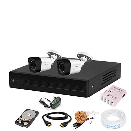 Cp Plus 4 Channal HD DVR 1080p 1Pcs,Outdoor Camera 2.4 MP 2Pcs,500 GB Hard Disk,Full Combo Set
