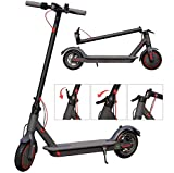 Digital Techno Electric Scooter Foldable Full UK Warranty - 25KM/H Disc Brakes UK Spec with APP Control Battery E-Scooter (Black)