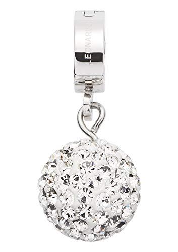 JEWELS BY LEONARDO DARLIN\'S Damen-Anhänger Brillante, Edelstahl mit kleinen Kristallen und Mini-Clip, CLIP & MIX System, Größe (B/H/T): 10/22/11mm