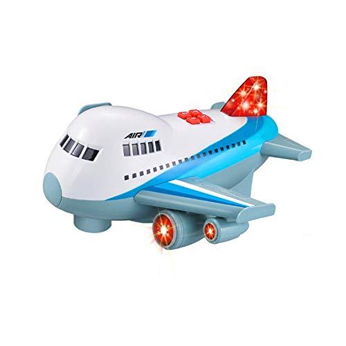 Lihgfw Airbus Inertial Flugzeug Simulation Passagierflugzeug-Modell-elektrische Musik Kinderspielzeug for Kinder über 2 Jahre alt Geeignet for Kinder Jungen und Mädchen