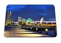 22cmx18cm マウスパッド (日本横浜港メトロポリス夜景プロムナードベイ) パターンカスタムの マウスパッド