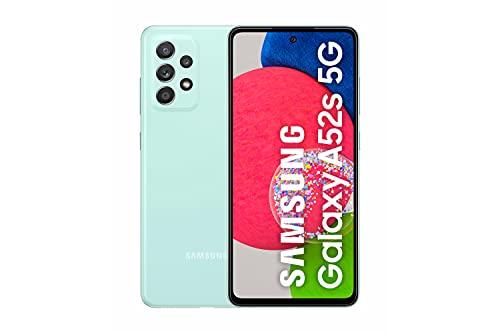 Samsung Smartphone Galaxy A52s 5G con Pantalla Infinity-O FHD+ de 6,5 Pulgadas, 6 GB de RAM y 128 GB de Memoria Interna Ampliable, Batería de 4500 mAh y Carga Superrápida Verde...