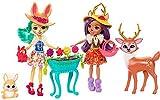 Enchantimals Coffret Jardin Enchanté, Mini-poupées Danessa Biche, Fluffy Lapin et Figurines Animales avec accessoires de jardinage, jouet enfant, FDG01