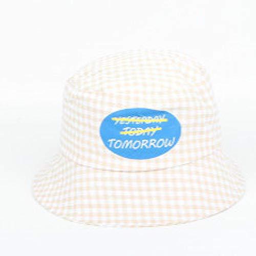 KFEK New Plaid Wild Fashion Fischer Hut Brief Drucken Dome Basin Cap Outdoor Sonnenschutz Sonnenhut...
