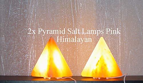 LED Pyramid Salt Lamps Pink U S B 1-2kg Each Lamp Himalayan...