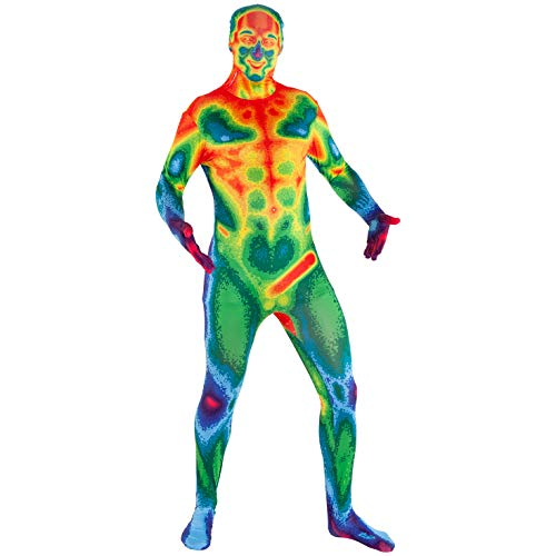 Morphsuits Infrared Camera Multicoloured Halloween Costume for Adults - X-Large