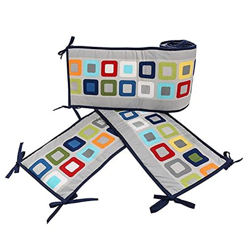 4 pièces doublures de lit de bébé, coussins doux, coussins de protection de lit pour nouveau-né impression motif bande de protection du mur d'enceinte du lit