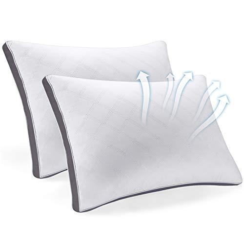 SEPOVEDA Kissen 2er Set, 51x66cm Mikrofaser Kopfkissen für Nackenschmerzen leidet, Anti-Mite&geruchlos