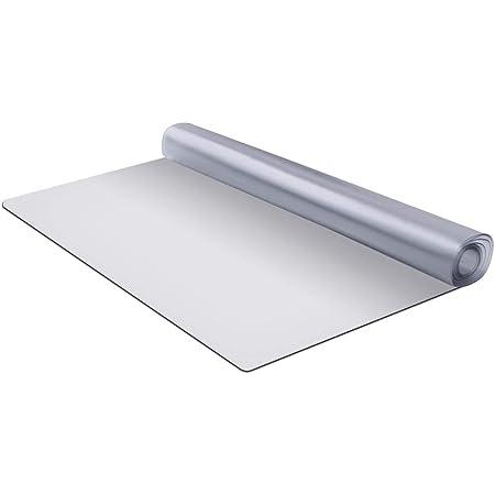 WEIMALL キッチンマット 240×80cm 防水 撥水 拭ける 滑り止め 透明(半透明) エンボス加工 傷防止 床暖房対応 クリアマット