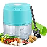 Electric Mini Garlic Chopper, Vegetable Chopper, Small Food Processor, Onion Grinder, Masher,...