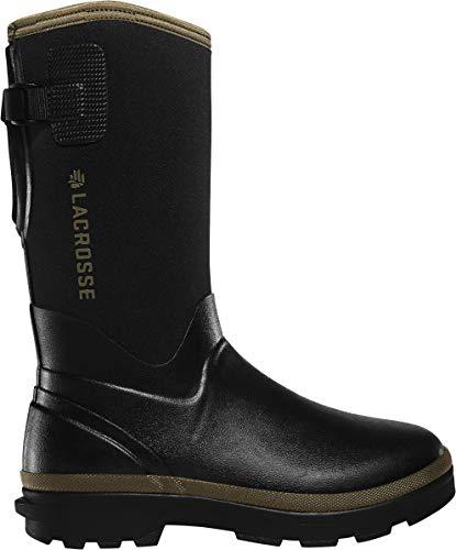 LaCrosse Women's 602247 Alpha Range 12' 5.0MM Waterproof Outdoor Boot, Black/Tan - 8 M
