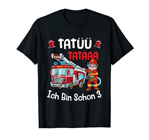 Ich bin 3 Jahre T-Shirt Jungen Auto Feuerwehr Geschenk T-Shirt