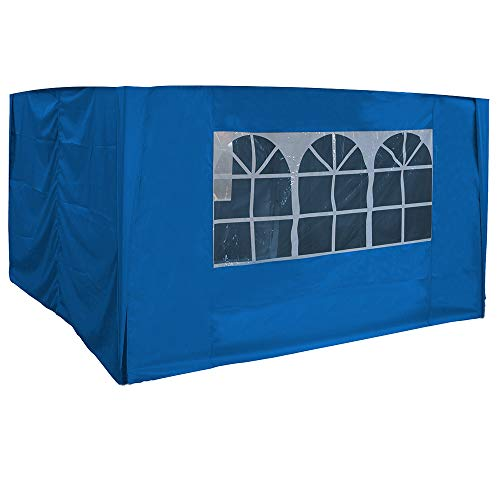 Greenbay 3x3m Pop Up Gazebo 4 Side Curtains Replacement Only Canopy Side Covers Blue
