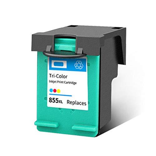 Cartucho de tinta 851 855, repuesto para impresora HP DeskJet 7108 4168 6318 D5168 Officejet 6208 6210 Photosmart 2575 negro y tricolor