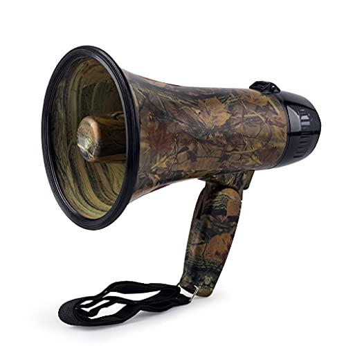 SXYLTNX Jungle Camuflaje Altavoz de Alta Potencia grabación Multifuncional Megáfono Stazo de Mano Altavoz