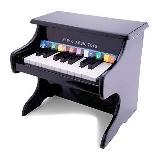 Toys-10157 New Classic Toys-10157-juguete Instrumento Musical de Juguete, Piano, 3 año(s), Niño/niña, Negro, 325 mm, Color Madera (10157)