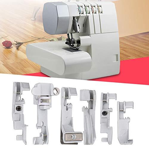 Accesorios para máquinas de coser, juego de prensatelas de hierro para SINGER 14U para máquina Overlock