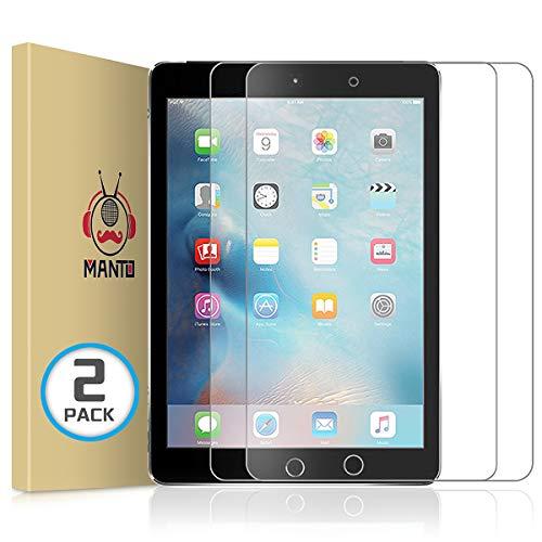 Manto 2-Stücke Panzerglas für iPad 9,7-Zoll, 2018 2017 Modell, iPad Air 1/ iPad Air 2/ iPad 5 / iPad 6 / iPad Pro 9,7