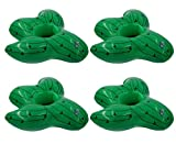 U-N KIKEEP Drink Holders Drink Floaties Pool Drink Holder Floats Inflatable Drink Holder Drink Floats Inflatable Cup Holders 4 Pack (Cactus)