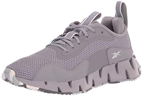 Reebok Women's Zig Dynamica Running Shoe, Pure Silver/gravity Grey/Glass Pink, 8