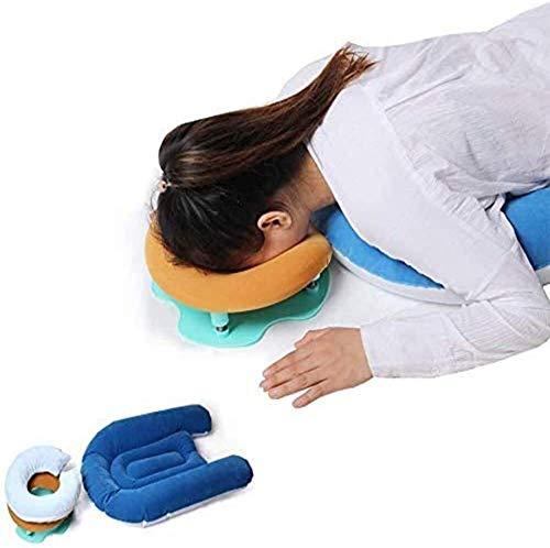 WKDZ Retina liegend Kissenkopf/Schulterstützkissen für Pfosten Vitrektomie, Makulare Loch & Retinalablösung Nachahmung Showing, Performance Linderung Höhenverstellbar 1217 (Color : Blue)