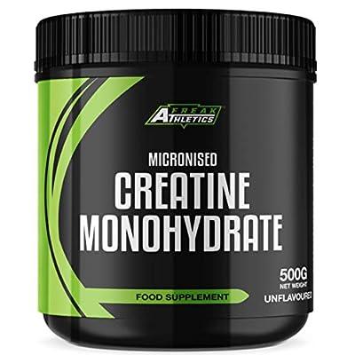 Creatine Monohydrate Powder 500g - Premium Grade Creatine Monohydrate - UK Made - Unflavoured Creatine Powder Scoop Included