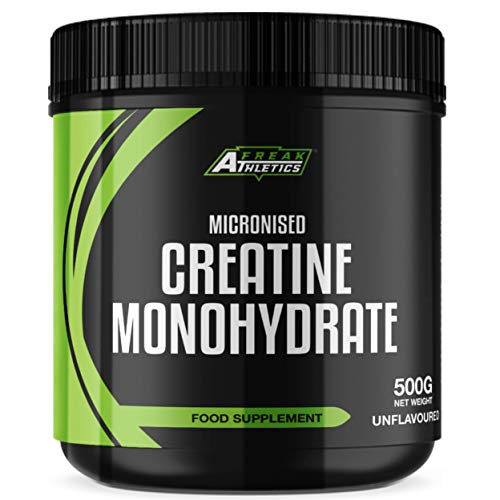 Creatine Monohydrate Powder 500g - Premium Grade Creatine Monohydrate - UK Made - Unflavoured Creatine Powder Scoop Included