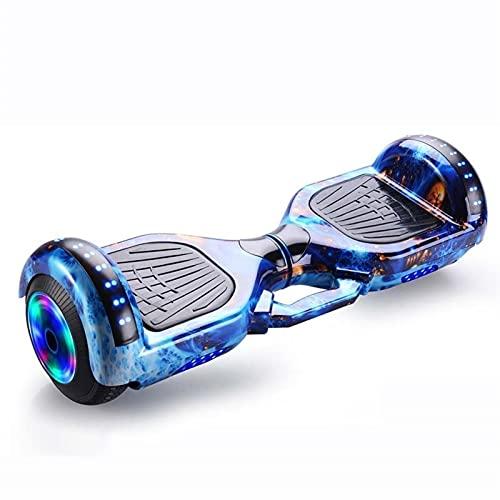 A-myt Iluminación LED autoequilibrante para Adultos Scooter eléctrico de Rueda de Ruedas para Adultos y niños con LED de Altavoz Bluetooth Incorporado Poderosa motivación (Color : Blue Phoenix Tail)