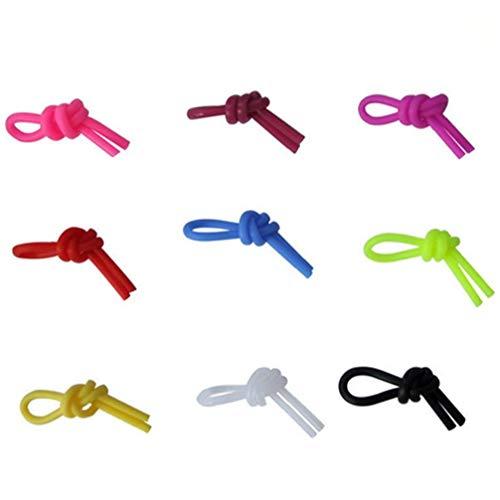 Tennisschläger Silikon Tie Vibrationsdämpfer reduzieren Racket Vibration für Tennis Squash Racquetball zufällige Farbe 10Pcs