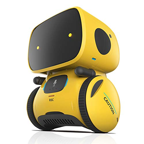 Smart Robot Toys for Kids Children, Boys Girls Gifts Intelligent Educational Robotic Toy, Voice Control&Touch Sense, Dance&Sing&Walk, Recording&Speak Like You,Yellow