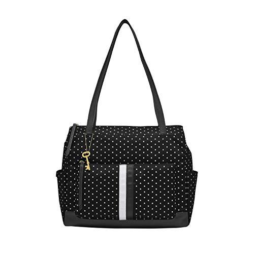 Fossil Women's Jenna Fabric Shopper Tote Purse Handbag, Dot