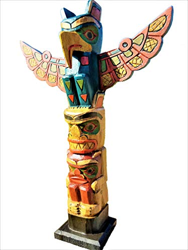 "All Seas Imports Gorgeous 20"" Handcarved Wood Totem Pole with Detachable Wings"