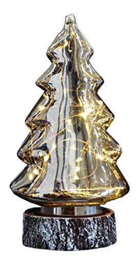 Giocoplast Natale Smoke Glass Tree Design Giocoplast-Albero di Natale in Vetro fumé, Multicolore