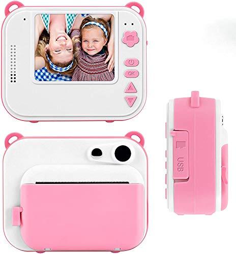 TOYOUSONIC Macchina fotografica istantanea per Bambini, Bambina Fotocamera 1080P Videocamera Digitale Portatile 3-12 anni LCD da 2 Pollici Supporto per la stampa di foto, SD Rosa