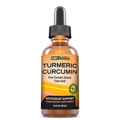 Max Absorption Liquid Turmeric Curcumin Drops | for Joint Pain, Digestion, Anti-Inflammation Support | Liposomal Organic Turmeric Root Extract with Fulvic Acid | Vegan, Non-GMO, Made in USA