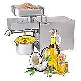 Kitchen Oil Press Machine Electric Automatic Oil Press Extractor Organic Oil Expeller for Avocado Coconut Olive Flax Peanut Castor Hemp Perilla Seed Canola Sesame Commercial Grade1500W