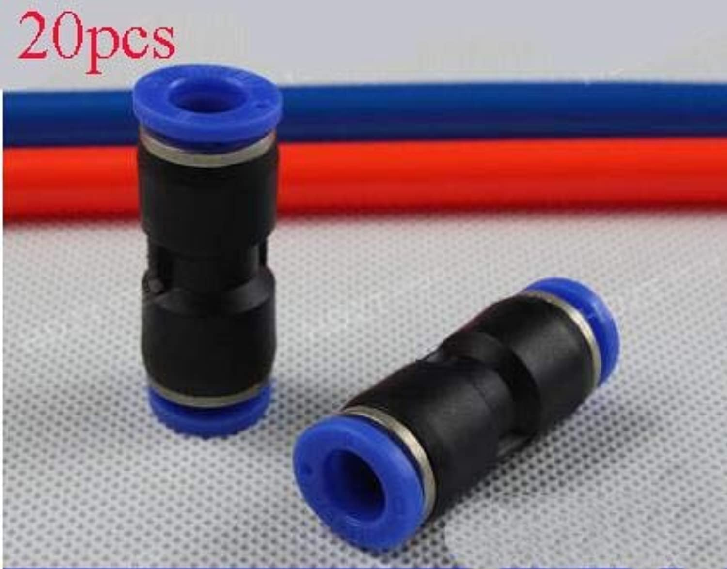 Laliva 20PCS Plastic Pneumatic Air Pipe Connector QuickInsert Straight Joint PU04 06 08 10 12 14 16 for RC Model UAV Drone  (color  PU10)