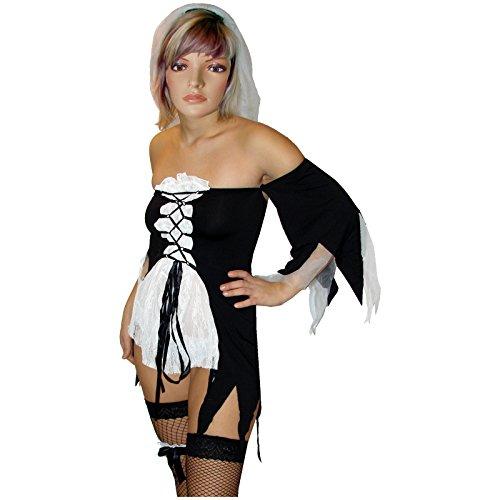 Spassprofi Brautkleid Vampirbraut Kostüm Zombie Vampir Vampirkostüm