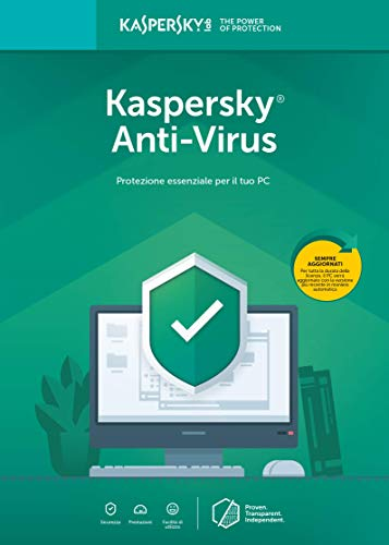 Kaspersky Anti-Virus | Full | 2 Dispositivo | 1 Anno | PC | Codice d'attivazione per PC via email