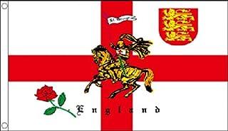 St George Charger, Three Lions Coat of Arms & Engels Rose / Engeland Supporters. 3 x 2 voeten in grootte - Ideaal voor kin...