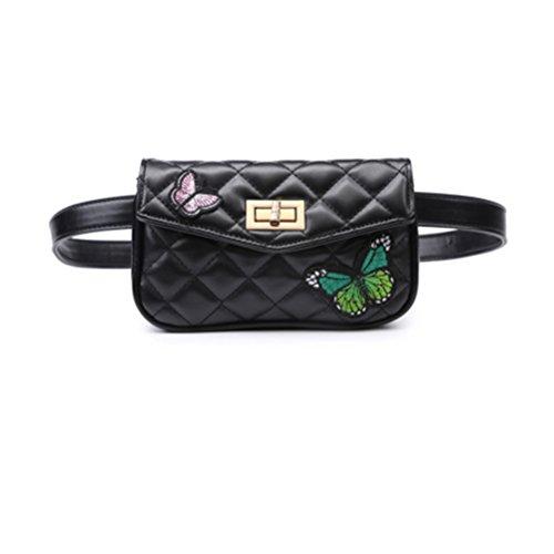 TTD Mode Kleine Süße Taille Gürteltasche Tasche Umhängetasche Handtasche Schmetterling Handytasche für Frauen & Mädchen-Typ1